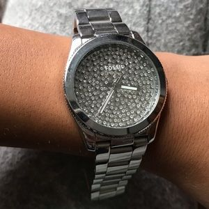 Fossil Diamond Silver Watch